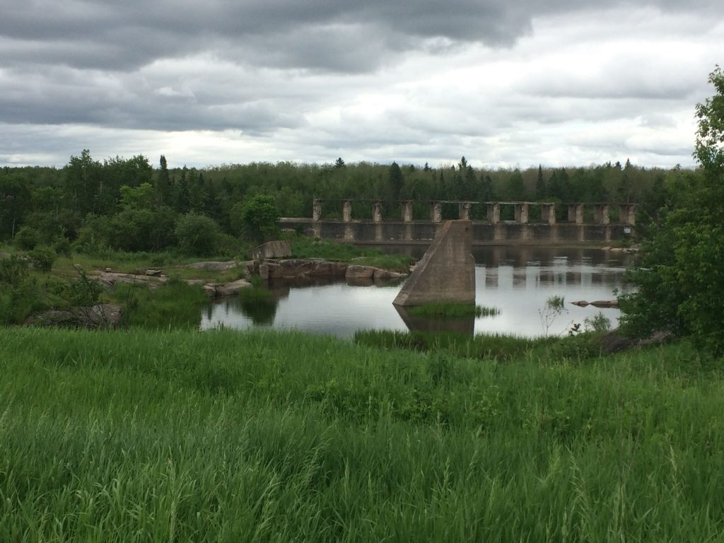 The ruins of Old Pinawa Dam