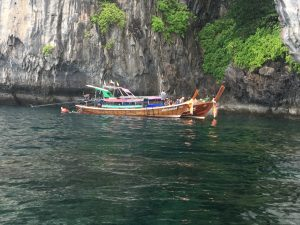 traditional long-tail boat in Thailand