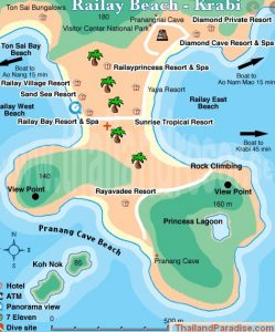 map of Railay Beach