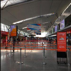 empty airport in Da Nang